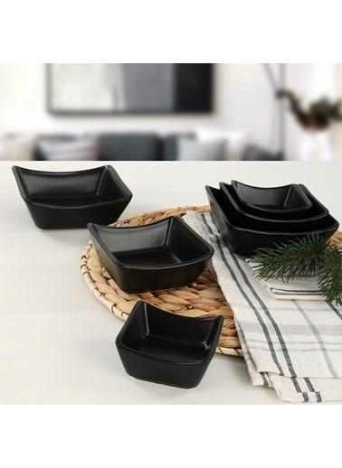 Keramika Keramika 6 Adet Mat Sandal Çerezlik Sosluk Renkli